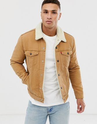 Levi's トップスその他 Levi's type 3 borg lined canvas trucker jacket in desert b