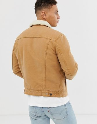 Levi's トップスその他 Levi's type 3 borg lined canvas trucker jacket in desert b(2)