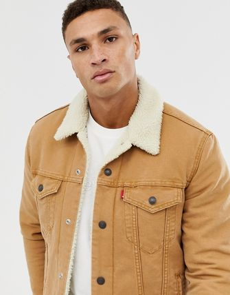 Levi's トップスその他 Levi's type 3 borg lined canvas trucker jacket in desert b(3)