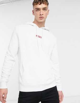 Levi's トップスその他 Levi's chest red lazyytab logo relaxed fit hoodie in white(3)
