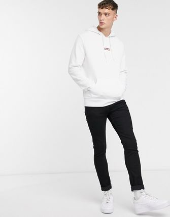 Levi's トップスその他 Levi's chest red lazyytab logo relaxed fit hoodie in white(4)