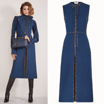 FE2693 WOOL DRESS WITH FF LOGO DETAIL