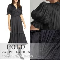 Polo Lauren Ralph :: POLY SATIN SLS CSD プリーツAライン