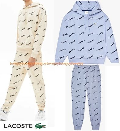 LACOSTE セットアップ 新作☆ Lacoste LIVE ロゴ スクリプト 上下 セットアップ