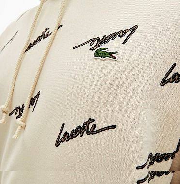 LACOSTE セットアップ 新作☆ Lacoste LIVE ロゴ スクリプト 上下 セットアップ(4)