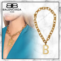 ◆BALENCIAGA20SS最新作◆Bチェーンネックレス◆Vibrated Gold