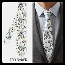 【TED BAKER】UK発!BENNI シルク ネクタイ 花柄 White