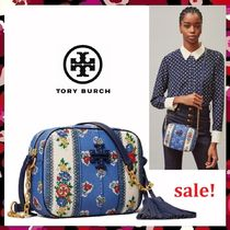 新作 セール Tory Burch McGraw Floral Camera Bag