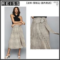 【海外限定】REISS スカート☆JORJA PLEATED SKIRT WITH D-RING