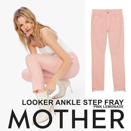 MOTHER デニム・ジーパン 【在庫◎】超楽ちんMother Looker Ankle Step Fray So Far Gone