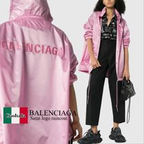 Balenciaga Satin logo raincoat