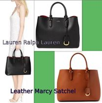 セール★大人気Taupe色★RALPH LAUREN★Leather Marcy Satchel