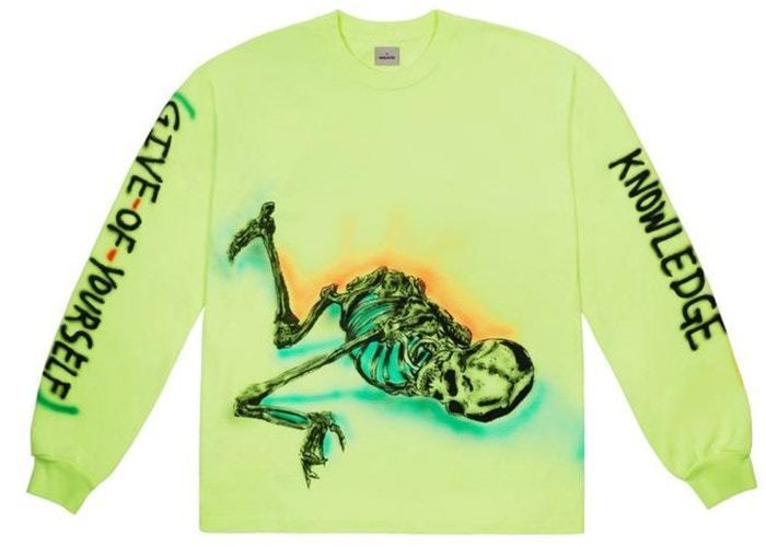 Yeezy Wes Lang Skeleton L/S Tee Frozen / Yellow (Tシャツ・カットソー) 51370269