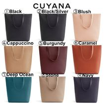【CUYANA】●カラー豊富●Tall Structured Leather Zipper Tote