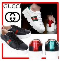 ☆送料無料・関税込☆GUCCI☆ACE EMBROIDERED PLATFORM SNEAKER