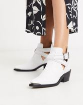 Ted Baker celania leather western cut-out biker boots