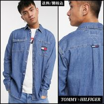 【Tommy Hilfiger】Jeans フラッグ ロゴ デニム シャツ ♪