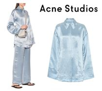 [関税・送料込] Acne Studios☆Oversized satin pajama shirt