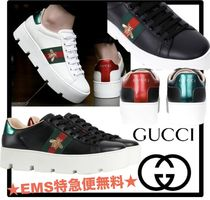 送料無料・関税込★GUCCI★Ace embroidered platform sneaker