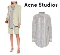 [関税・送料込] Acne Studios☆Printed cotton-blend shirt