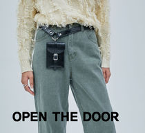 OPEN THE DOOR o-ring pocket leather belt