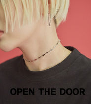 OPEN THE DOOR silver cross choker