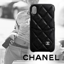 20SS<CHANEL>iPhone XR クラシック ケース ラムスキン 新作