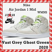 NIKE Jordan 1 Mid Vast Grey Ghost Green 2020 SS 20 [WMNS]