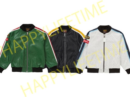 Supreme レザージャケット ◆WEEK1◆SUPREME20SSVANSON LEATHERS PERFORATED BOMBER JACKET