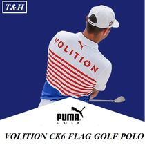 【PUMA】星条旗カラーのVOLITION CK6 FLAG GOLF POLO 男性用