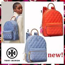 セール 新作 Tory Burch Perry Nylon Mixed Stitch Zip Backpack