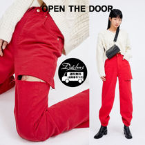 OPEN THE DOOR cutting color jeans (3 color) SW446 追跡付
