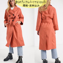 国内発送 ASOS DESIGN double breasted lightweight trench coat