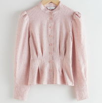 "& Other Stories(アンドアザーストーリーズ) ブラウス・シャツ ""& Other Stories"" Glitter Striped Button Up Blouse Pink"