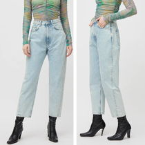 """WEEKDAY"" Meg High Mom Jeans AquaBlue"