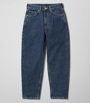 """WEEKDAY"" Meg High Mom Jeans WinBlue"