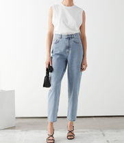 """& Other Stories"" Cropped Mid Rise Jeans LightBlue"