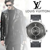 【Louis Vuitton】TAMBOUR SLIM MONOGRAM ECLIPSE 39時計