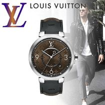 【Louis Vuitton】TAMBOUR SLIM MONOGRAM MACASSAR 39時計
