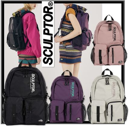 SCULPTOR バックパック・リュック 関税込 日本未入荷★SCULPTOR★Double Pouch Nylon Backpack 4色