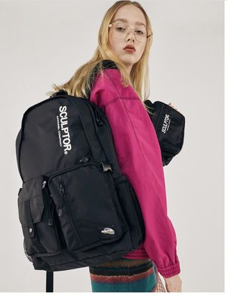 SCULPTOR バックパック・リュック 関税込 日本未入荷★SCULPTOR★Double Pouch Nylon Backpack 4色(3)