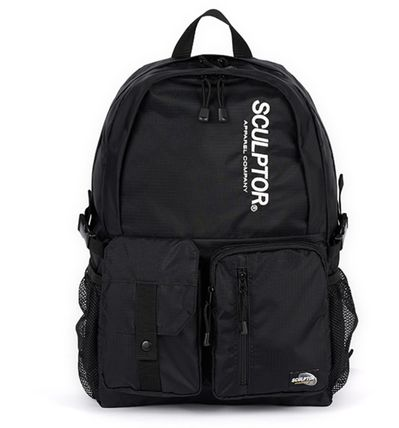 SCULPTOR バックパック・リュック 関税込 日本未入荷★SCULPTOR★Double Pouch Nylon Backpack 4色(5)