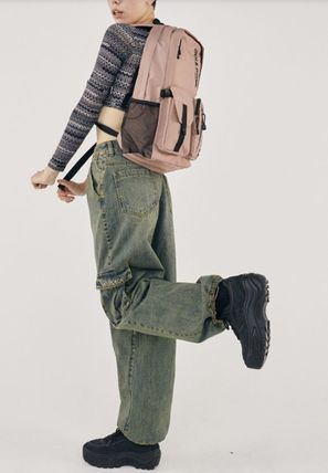 SCULPTOR バックパック・リュック 関税込 日本未入荷★SCULPTOR★Double Pouch Nylon Backpack 4色(17)