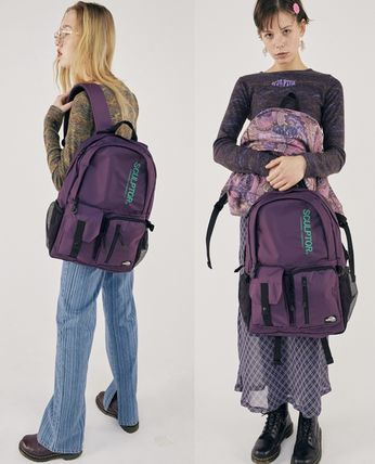 SCULPTOR バックパック・リュック 関税込 日本未入荷★SCULPTOR★Double Pouch Nylon Backpack 4色(18)