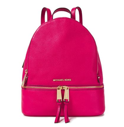 Michael Kors バックパック・リュック ★マイケルコース★Logo-embellished textured-leather backpack