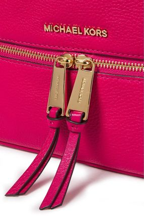 Michael Kors バックパック・リュック ★マイケルコース★Logo-embellished textured-leather backpack(4)