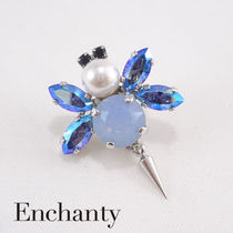 Enchanty Honey beeブートニエール スワロフスキーair-blue-opal
