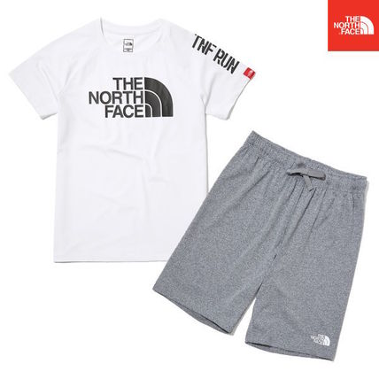 THE NORTH FACE キッズスポーツウェア 【THE NORTH FACE】K'S SUN FREE BIG LOGO LOUNGE SET White
