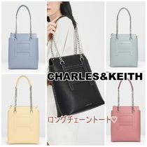 CHARLES&KEITH ロングチェーントートバッグ 春カラー5色
