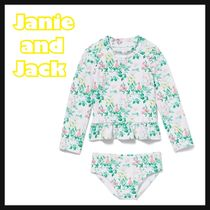 JANIE AND JACK(ジャニーアンドジャック) 子供用水着・ビーチグッズ 関税込み☆Janie and Jack☆フローラルラッシュガードセット
